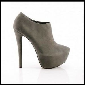 ShoeMint Genuine Leather Suede Platform Booties 8